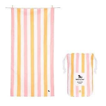 Dock & bay quick dry beach towel - summer - peach sorbet