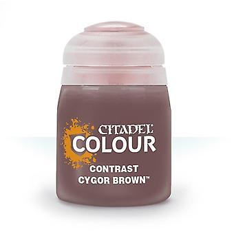 Contrast: Cygor Brown (18ml), Citadel Paint Contrast, Warhammer 40,000