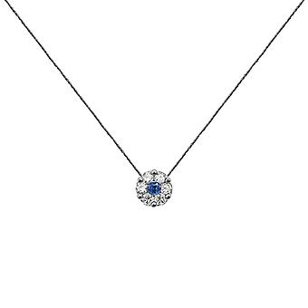 Collier Duchesse Full Diamond on Sapphire and 18K Gold, On Thread - White Gold, GreyStone