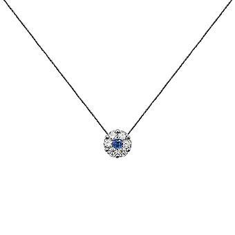 Ketting Duchess Full Diamond op Sapphire en 18K Gold, On Thread - Wit Goud, GreyStone