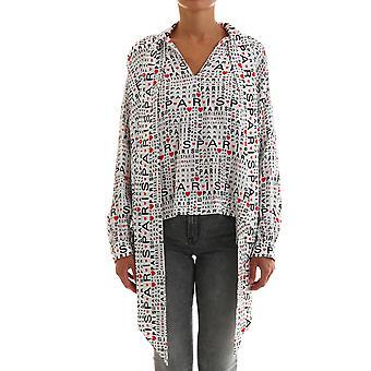 Balenciaga 595072tgl559065 Women's Multicolor Silk Shirt