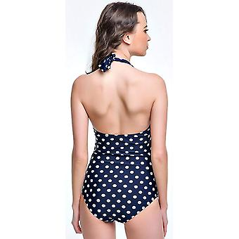 Angerella Vintage 50s Pin Up Halter One Piece Swimsuit Monokinis (US 8-10=Tag...