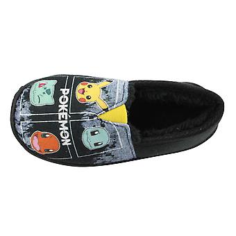 Pokemon Mocho Boys Slippers Black UK Sizes Child 8 -2