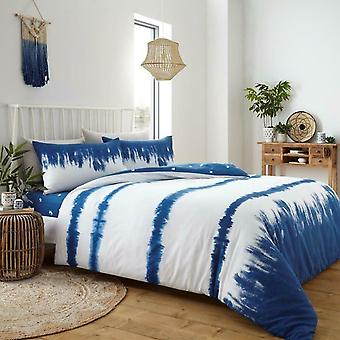 Tie Dye Duvet Cover Set Blue
