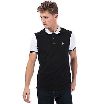 Men's Lyle And Scott Tipped Polo Shirt in Black