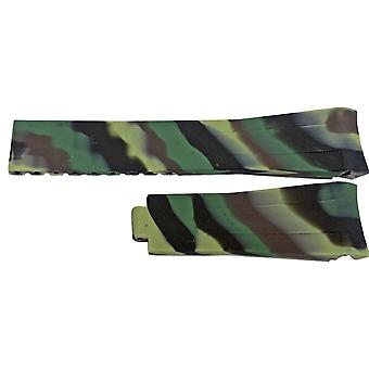 Rubber watch strap for rolex gmt oyster  omega seamaster camouflage 20mm