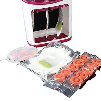 Baby Food Squeeze Station Distributor Organizor - Storage Containers Set Fruit