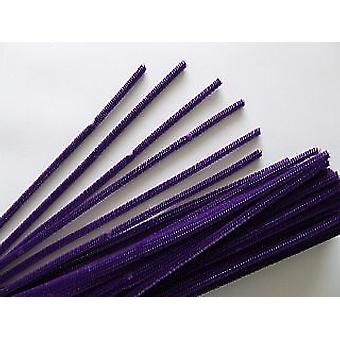100 paarse 6mm pipe cleaners | Chenille Stengels