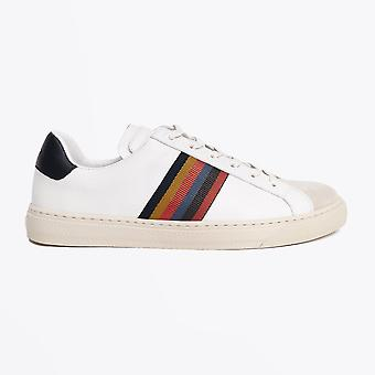 Paul Smith  - Leather 'Hansen' Stripe Sneaker - White/Cream