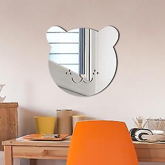 Nordic Style Acrylic Mirror Wall Sticker - Cartoon Kids Room Wall Props