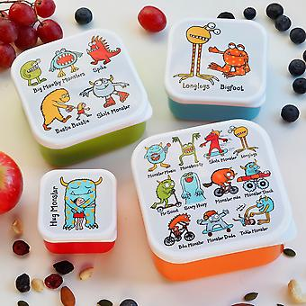 Tyrrell Katz Set of 4 Monsters Snack Boxes for Kids