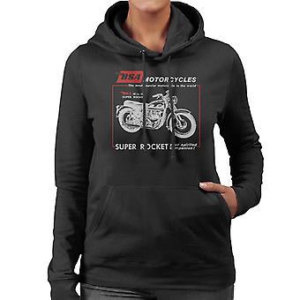 BSA Motorcycles Super Rocket Women's Hooded Sweatshirt