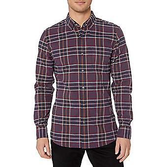 Merkki - Goodthreads Men's Slim-Fit Pitkähihainen Ruudullinen Oxford Shirt, Violetti Punainen Tartan Small