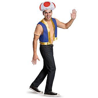 Crapaud champignon Mario Super Nintendo jeu vidéo Mens Costume Kit gilet chapeau