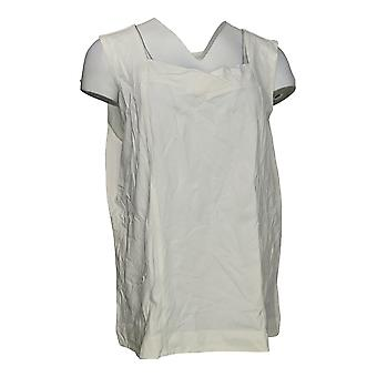 Denim & Co. Femmes's Top Essentials Knit Tank W/ Couture Blanc A252698