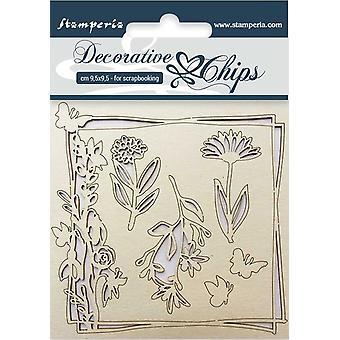 Stamperia Koristeelliset sirut Kukat ja perhonen