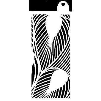 IndigoBlu Tropical Leaves 6x3 Inch Stencil