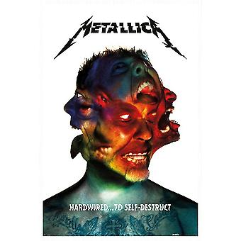 Metallica Textile Flag Hardwired to Self Destruct Official Poster 70cm x 106cm