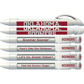 20509, Oklahoma Sooners Braggin-apos; Rights Rotating Message 6 Pen Set 20509