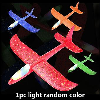 1pc 48cm Hand Launch Throwing Glider Aircraft - Inertial Flying Foam Airplane Toys For Children