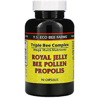 Y.S. Eco Bee Farms, Royal Jelly, Bee Pollen, Propolis, 90 Capsules
