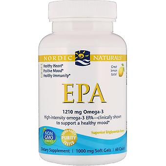 Nordic Naturals, EPA, Lemon, 1000 mg, 60 Soft Gels