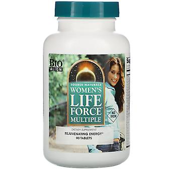 Source Naturals, Women's Life Force Multiple, No Iron, 90 Tablets
