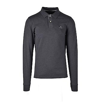 Gant Pique Long Sleeved Rugger Antracit Melange