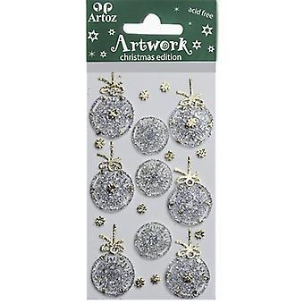 الفضة عيد الميلاد Bauble الحرفية الزينة من قبل Artoz