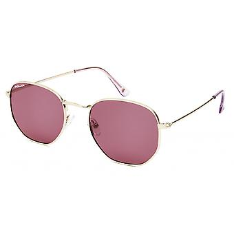 Sunglasses Unisex Chicago Polarized Gold with Pink Lens (pchi02/P)