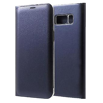 Shell for Samsung Galaxy S8 Plus Luxury Case Protection Wallet Blue Leather