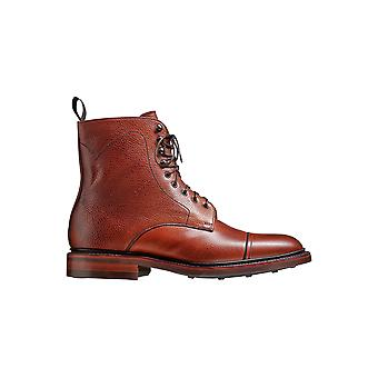 Barker Donegal - Antique Rosewood Grain - 12 | Mens Handmade Leather Boots | Barker Shoes
