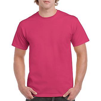 Gildan G5000 Plain Heavy Cotton T Shirt in Heliconia