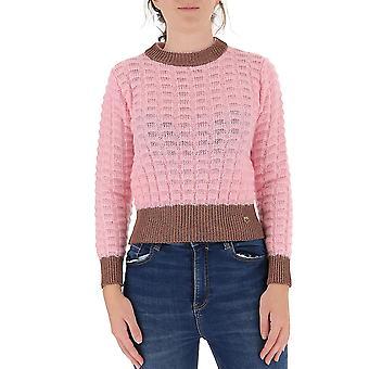 Pinko 1b14x1y6qqp59 Kvinder's Pink Nylon Sweater