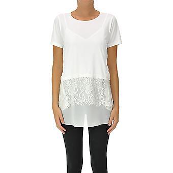 Dondup Ezgl030286 Women's White Polyester Top