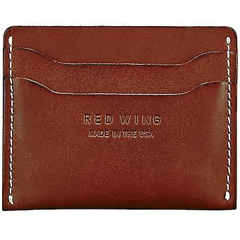 Red Wing Card Holder Unisex Wallet in Red Mahogany