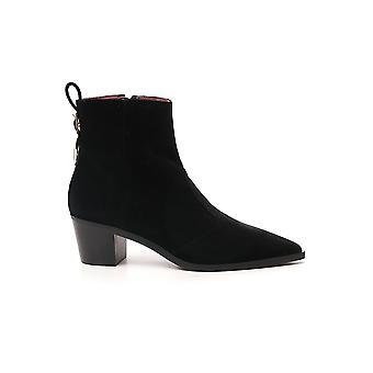 L'autre Koos Ldm08050wc28421001 Women's Black Suede Ankle Boots