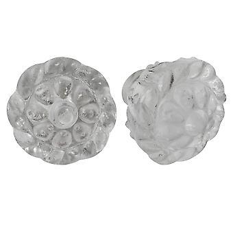 Nicola Spring Glass Cupboard Drawer Knobs - Diseño Floral - Pack de 6