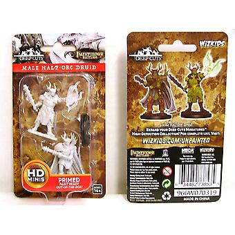 Pathfinder Deep Cuts Unpainted Miniatures Male Half-Orc Druid (Pack of 6)