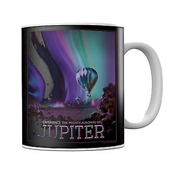 NASA Auroras Of Jupiter Interplanetary Travel Poster Mug