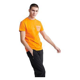 Superdry Urban Tech Nailon Pocket T-paita - Oranssi