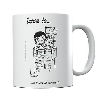 El amor es una taza de la torre de la fuerza