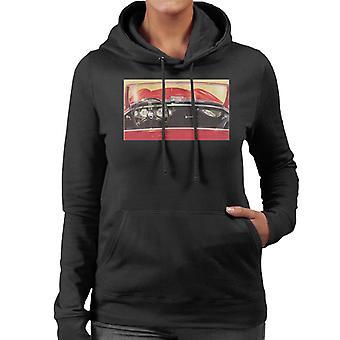 Austin Healey Drivers Seat British Motor Heritage Women's Hooded Sweatshirt