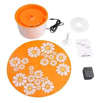 Orange Blume automatische elektrische Haustier Trinkmaschine Filter mit Matte