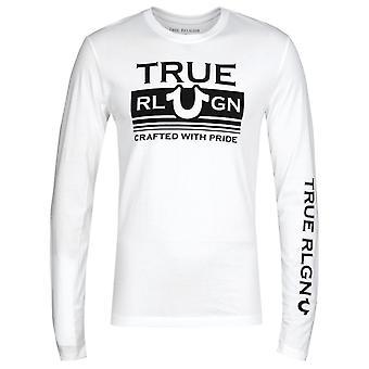 True Religion Long Sleeve Still Mill White T-Shirt