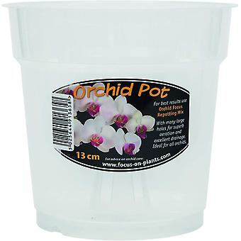 Growth Technology Clear Orchid Pot 13cm - 1