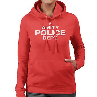 Mandíbulas Amity Policía Departamento Mujeres's Sudadera encapuchada