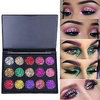 Diamond Glitter øjenskygge Pallete, Shimmer Fashion Beauty Eyes Makeup Pulver