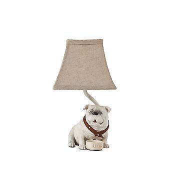 מנורת מבטא של כלב שור