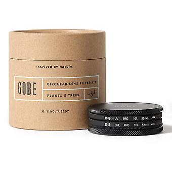 Gobe 52mm uv + circular polarizing (cpl) lens filter kit (3peak)